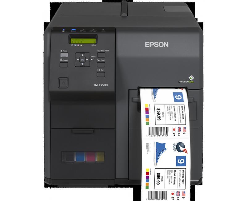 Epson C7500 színes tekercses címkenyomtató
